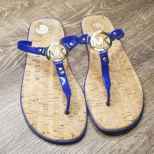 Michael Kors blue jelly thong sandals size 11